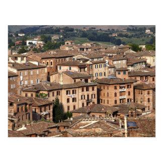 Carte Postale Sienne rentrée par photographie, Italie. On peut
