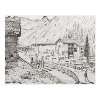 Carte Postale Sierre à la course de montagne de Zinal la