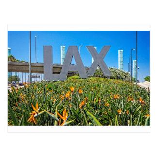 Carte Postale Signe d'aéroport de LAX