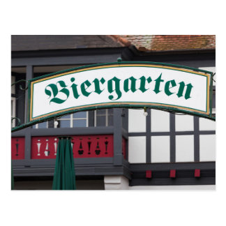 Carte Postale Signe de Biergarten, Allemagne