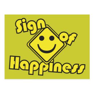 Carte Postale Signe de bonheur