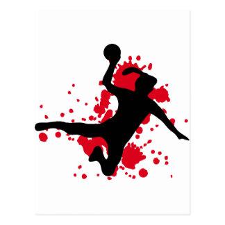 Carte Postale Signe de handball de Frauenhandball