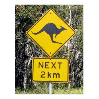 Carte Postale Signe de kangourou