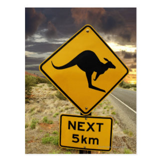 Carte Postale Signe de kangourou, Australie