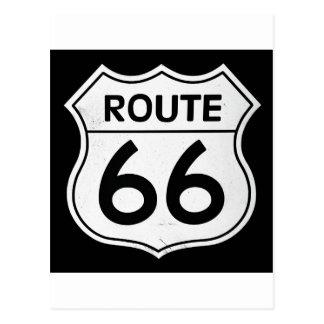 Carte Postale Signe de l'itinéraire 66