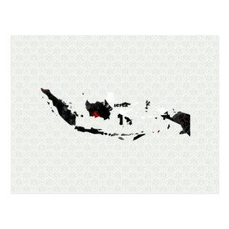 Carte Postale Signe de paix à la mode de l'Indonésie avec la