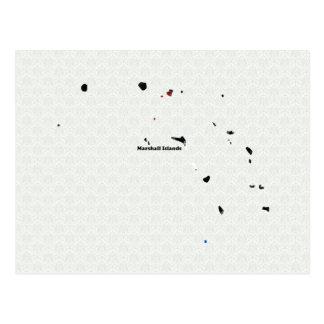 Carte Postale Signe de paix à la mode des Marshall Islands avec