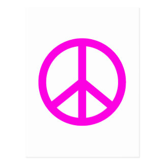 Carte Postale Signe de paix fuchsia
