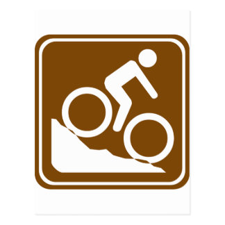 Carte Postale Signe de route de BMX