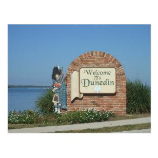 Carte Postale Signe de ville de Dunedin la Floride