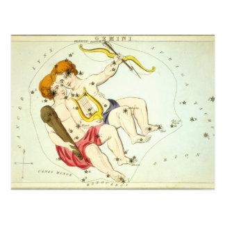 Carte Postale Signe de zodiaque : Gémeaux