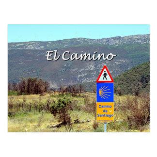 Carte Postale Signe d'EL Camino De Santiago (légende)