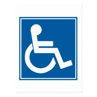 Carte Postale Signe d'handicap