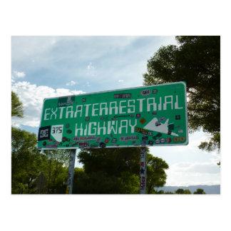 Carte Postale Signe extraterrestre de route, Rachel Nevada