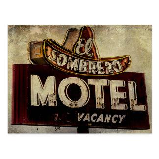 Carte Postale Signe vintage de motel de sombrero d'EL
