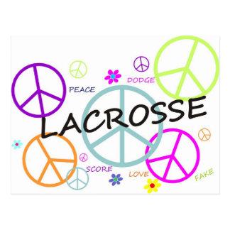 Carte Postale Signes de paix colorés par lacrosse