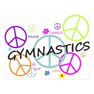 Carte Postale Signes de paix de gymnastique