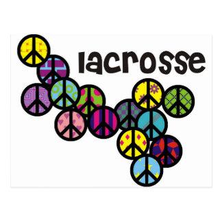 Carte Postale Signes de paix de lacrosse remplis