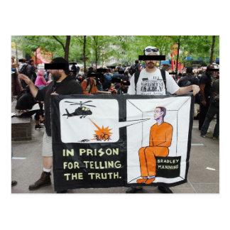 Carte Postale Signes de protestation d'OWS (carte postale)