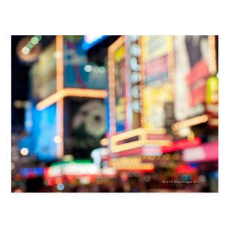 Carte Postale Signez dedans le Times Square
