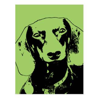 Carte Postale Silhouette de Doxie de st patrick - Winston
