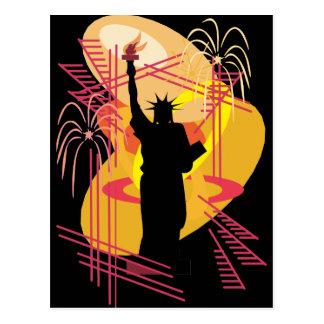Carte Postale Silhouette de liberté