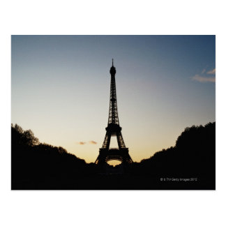 Carte Postale Silhouette de Tour Eiffel