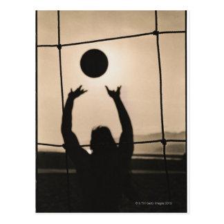Carte Postale Silhouette de volleyball