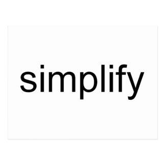 Carte Postale Simplifiez