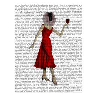 Carte Postale Singe avec du vin