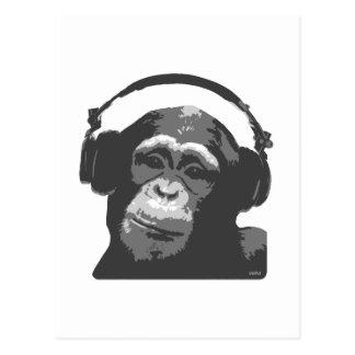 CARTE POSTALE SINGE DU DJ