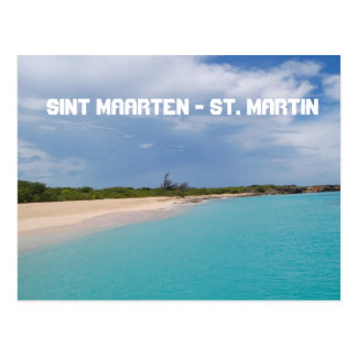 Carte Postale Sint Maarten - scène de plage de St Martin