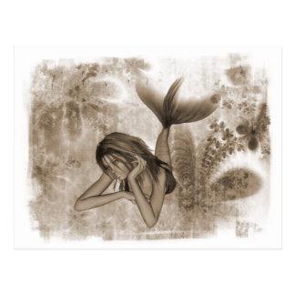 Carte Postale Sirène Brown de l'arrière - plan 3D de fractale