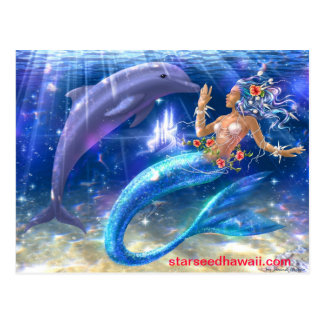 Carte Postale sirène, starseedhawaii.com