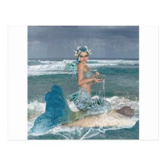 Carte Postale Sirène sur la roche