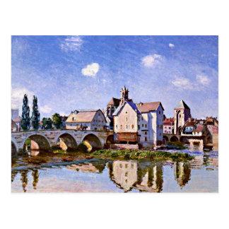 Carte Postale Sisley - le pont de Moret à la lumière du soleil