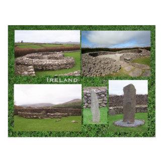 Carte Postale Site monastique de Reask, Kerry Irlande