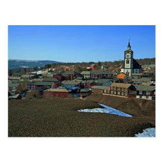 Carte Postale Site Røros, Norvège de l'UNESCO