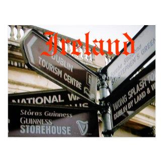 Carte postale siteseeing de Dublin Irlande Eire