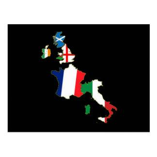 Carte Postale Six nations