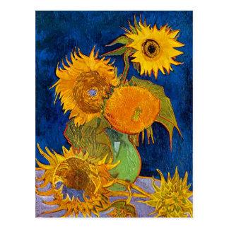 Carte Postale Six tournesols par Van Gogh