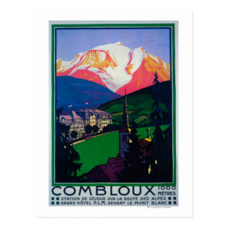 Carte Postale Ski à l'affiche promotionnelle de Combloux