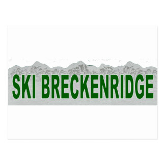 Carte Postale Ski Breckenridge, le Colorado