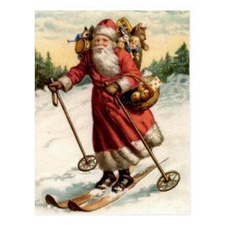 Carte Postale Ski de Nicholas de saint de Joyeaux Noel