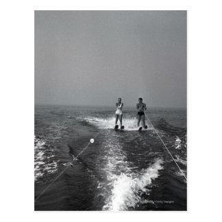 Carte Postale Ski nautique de deux personnes