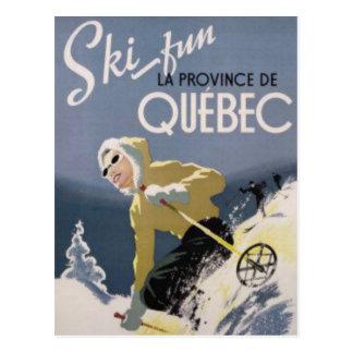 Carte Postale Ski Québec