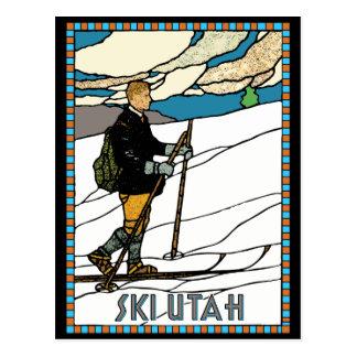 Carte Postale Ski vintage Utah de pays croisé