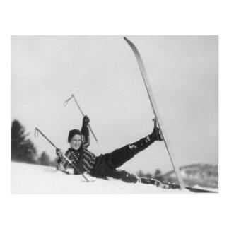 Carte Postale Skieur 2 de femme
