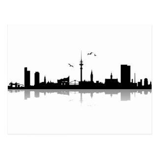 Carte postale Skyline de Hambourg