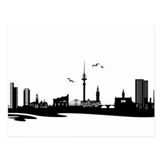 Carte Postale Skyline Hambourg